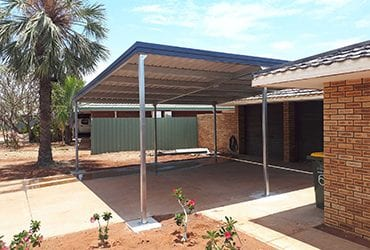 Stay protected from the sun with a Pilbara Sheds patio or carport