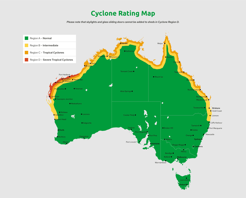 cyclone rating map australia